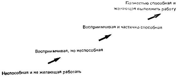 Рис. 4. Стадии развития группы